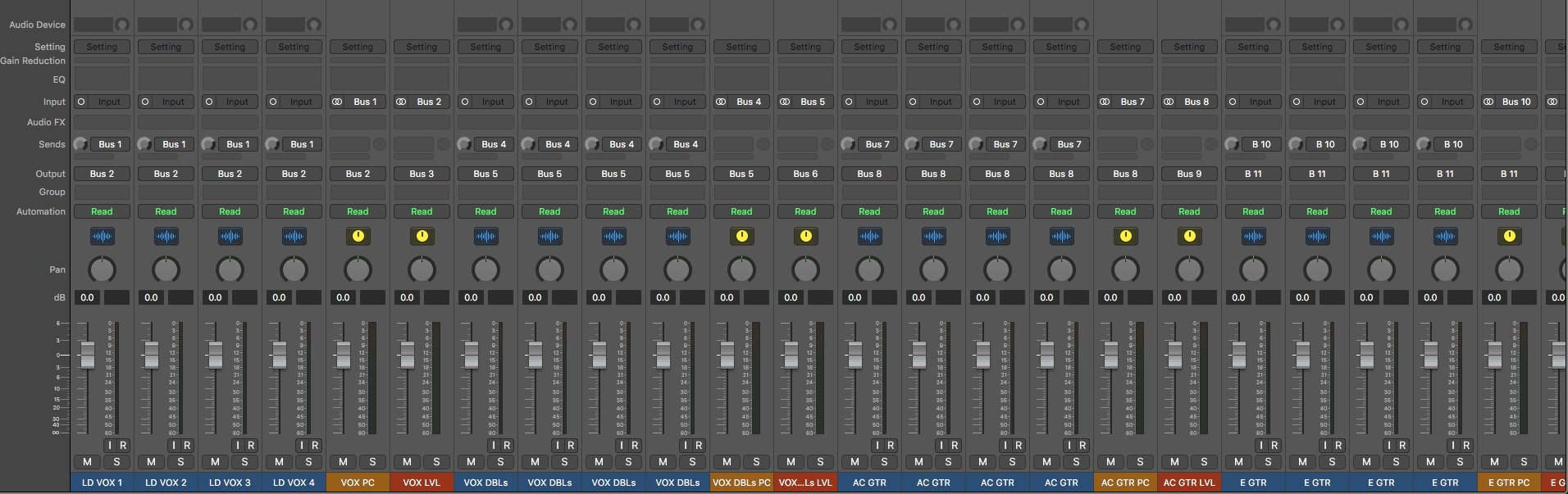 Logic Pro Rock Session Template | Ty Crawford
