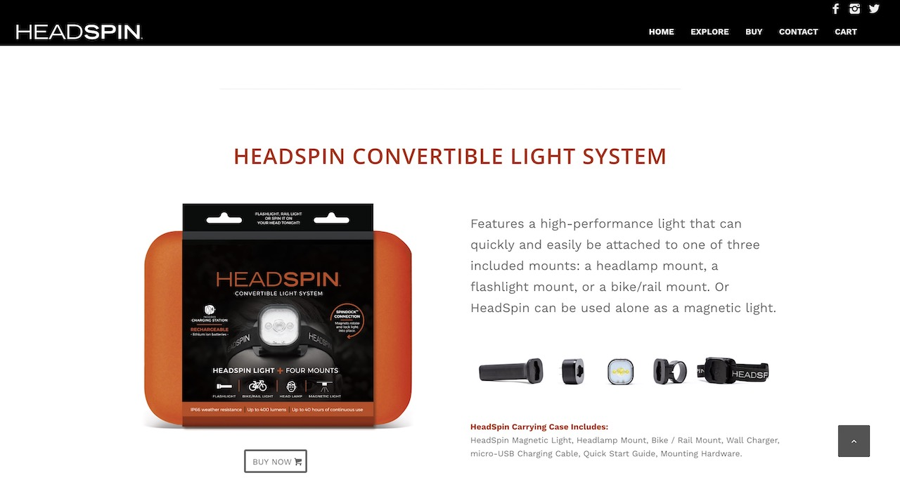 HeadSpin Outdoors Website